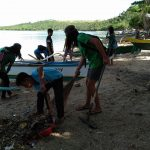 Coastal Clean-up during the Kampo Kalikasan 2017 at Bagatao National High School