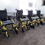 Five Magallenos in Barangay Behia receive wheelchairs