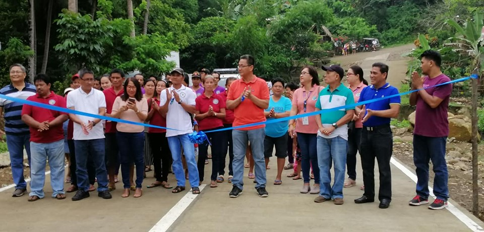 Turn-over of the PAMANA-DPWH Concreting of the Busay-Magsaysay Road Phase II & III