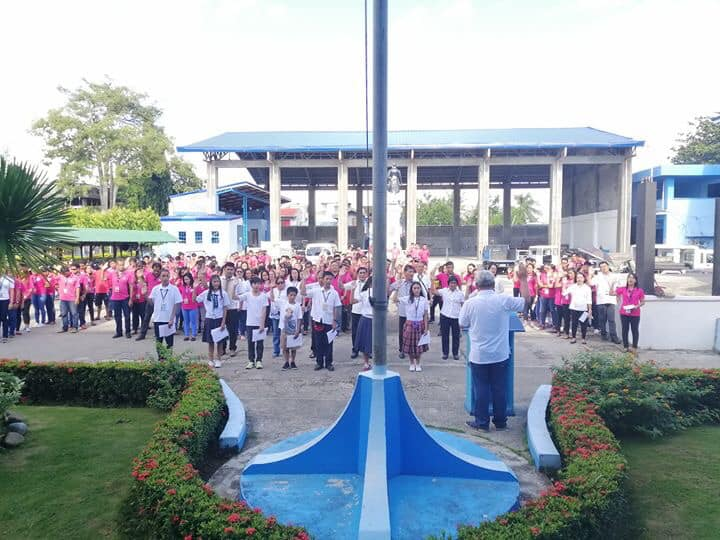 Panatang Makabata during the Flag Raising Ceremony of the LGU led by the LCE